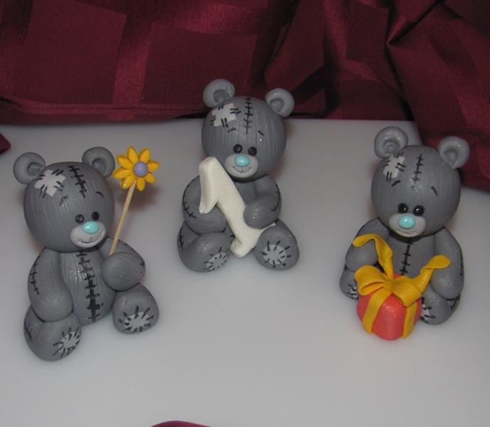Мишка из мастики на торте мастер класс